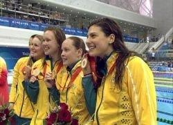 Австралийки проплыли на 5 секунд быстрее мирового рекорда
