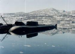 Русская субмарина в Арктике