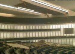 В Европарламенте рухнул потолок