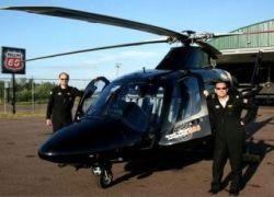 Два американца облетели вокруг света на вертолете за 11 суток