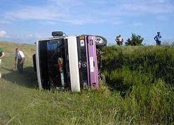 В Англии перевернулся  экскурсионный автобус, пострадали 70 туристов
