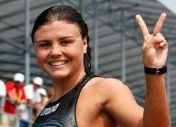 Лариса Ильченко стала олимпийской чемпионкой по плаванию