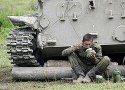 Российская армия окапывается