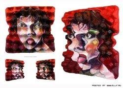 Портреты на яичных лотках