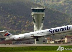Пассажирский лайнер сгорел в аэропорту Мадрида