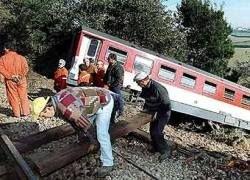 В Португалии сошел с рельсов пассажирский поезд