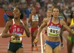 Россиянки стали вторыми в эстафете 4х400 м