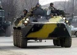 В Чечне подорван российский БТР