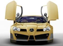 Новый Mercedes-Benz SLR на дорогах Нюрбургринга