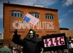 Антивоенные демонстрации в Денвере