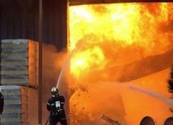 В Харьковской области не могут потушить  пожар на складе боеприпасов