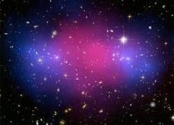 """Столкновение галактик отделило \""""темную материю\"""" от обычной"""