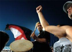 Бунт футбольных фанатов в Бразилии