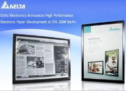 Delta Electronics показала новую электронную бумагу