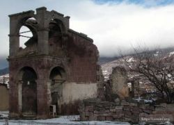 Разрушения продолжались после того, как в Цхинвали вошли войска РФ