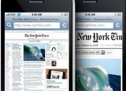 Мобильные новостные порталы неудобны для iPhone