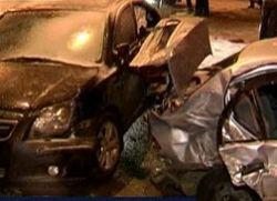В Сургуте столкнулись 34 автомобиля