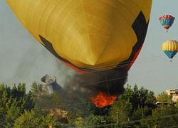 Воздушный шар потерпел катастрофу