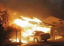 Лос-Анджелес окружают пожары