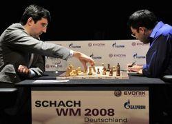 Крамник и Ананд начали матч за первенство мира по шахматам с ничьей