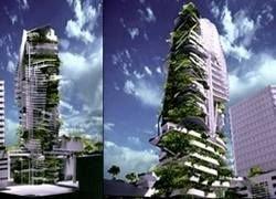 В Сингапуре появится покрытый растениями небоскреб