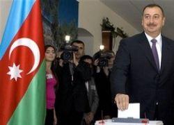 Алиев официально победил на президентских выборах