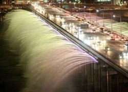Banpo Bridge – мост-фонтан в Сеуле