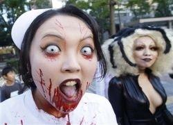 Японцы отмечают Halloween