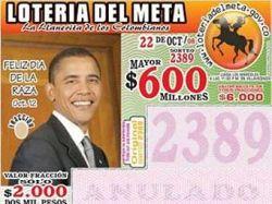 Обама стал лицом колумбийской лотереи