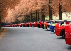 Встреча владельцев Ferrari F40 в Японии