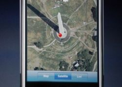 Демонстрация преимуществ iPhone в использовании Google Earth