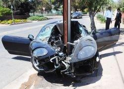 Авария с участием Ferrari за 250 тысяч $
