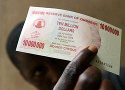 Зимбабве ввело в обращение купюру в миллион долларов