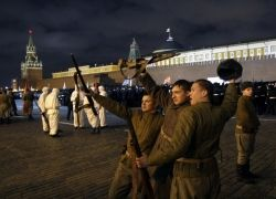 Подготовка к параду на Красной площади