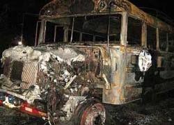 В Гватемале сгорел автобус с пассажирами