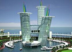 """Футуристический проект \""""Башни Z10\"""": три башни-великана"""