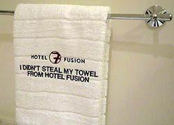 Честным туристам подарят полотенца