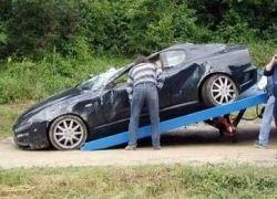 Дорожные рабочие уничтожили Maserati за 150 000 евро