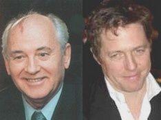 Хью Грант пообедал с Горбачевым за 250 тысяч фунтов стерлингов