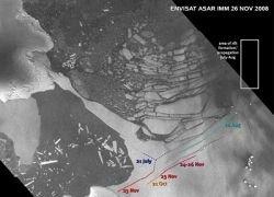 В Арктике найдены новые разломы ледяных шельфов