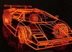 Британский художник возродил легендарный суперкар Lamborghini Countach