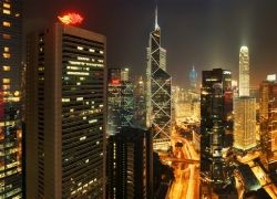 Мегаполисы ночью: Гонконг, Дубаи, Нью-Йорк, Шанхай