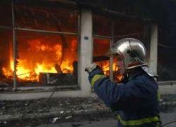 Участники беспорядков в Греции подожгли 16 банков и 20 магазинов