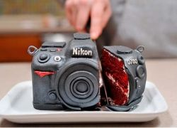 Торт для фотолюбителя от Nikon