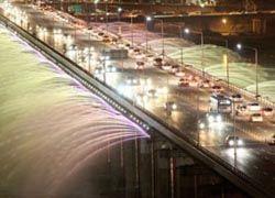 Музыкальный мост-фонтан