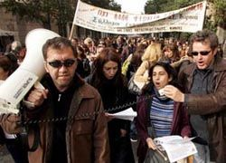 Афины вновь охвачены беспорядками