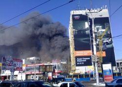 Сильный пожар в Воронеже