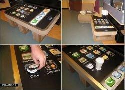 iPhone coffee table: чаепитие в стиле Mac