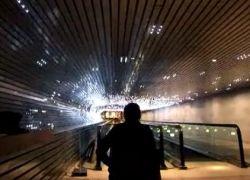 Невероятный световой туннель для влюбленных