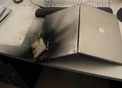 Взрыв ноутбука Apple